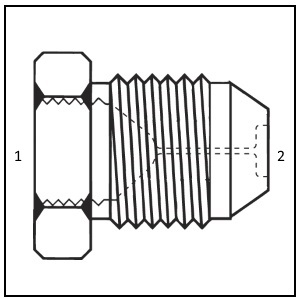 S3734 - Female JIC to Male JIC Restrictor