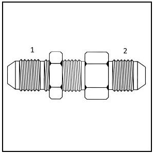 S3842L - Male JIC Bulkhead Union Straight Long